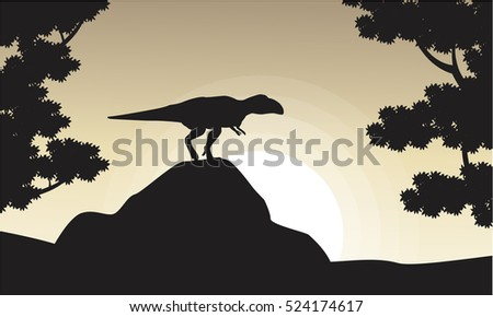 silhouette of mapusaurus at