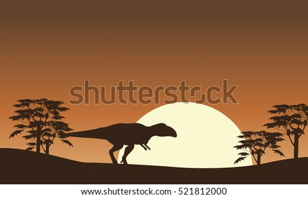 silhouette of mapusaurus with