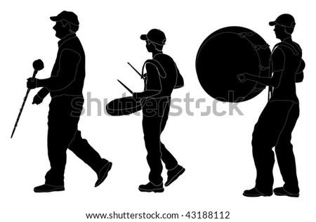 Marching Band Parade Vector Flat Character Illustration