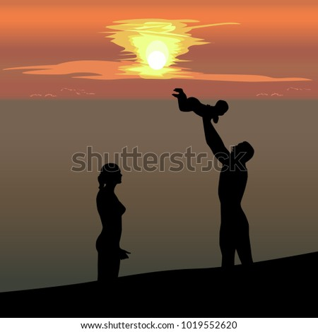 silhouette of married couple
