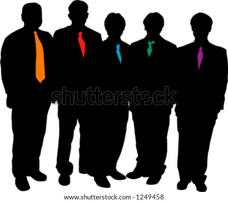 silhouette of men in suits