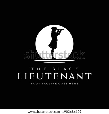 silhouette of military