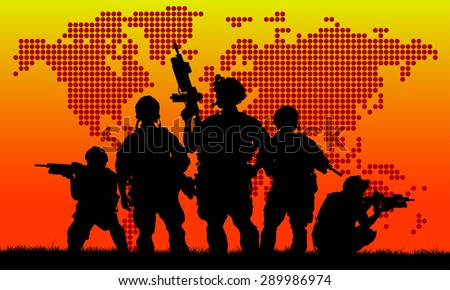 silhouette of military soldier