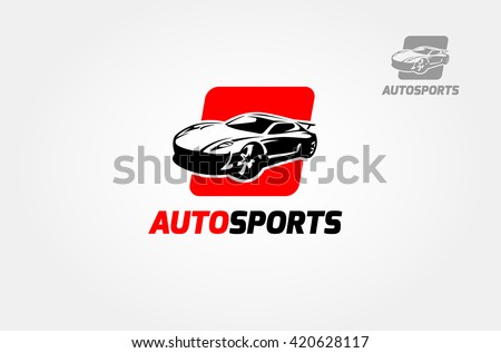silhouette of modern racing car