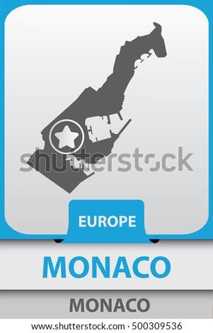 silhouette of monaco  capital