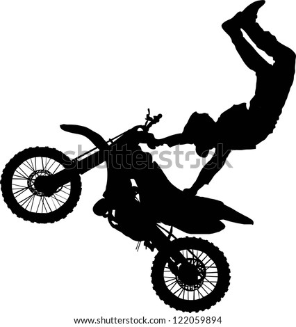 silhouette of motorcycle rider