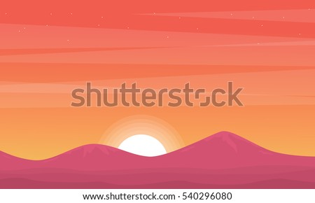 silhouette of mountain at