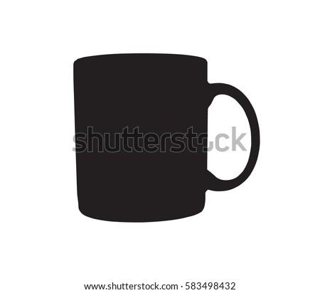 silhouette of mug  black color