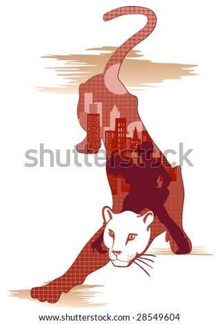 silhouette of pair in an image
