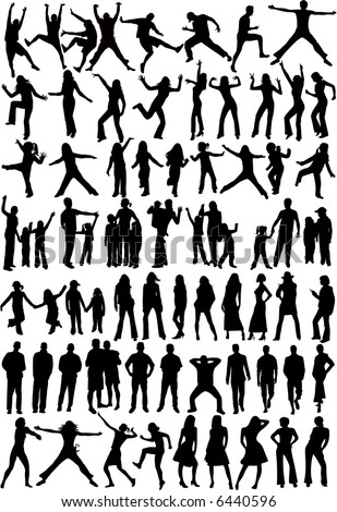 Silhouette of people - Collection , vector work