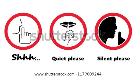 silhouette of please be quiet