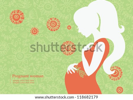 silhouette of pregnant woman in