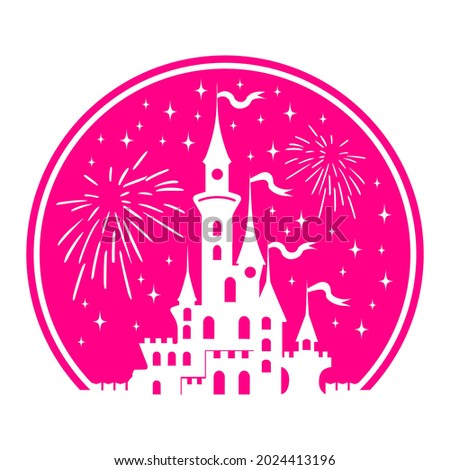 silhouette of princess castle