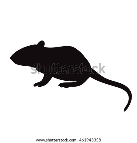 silhouette of rat, mouse