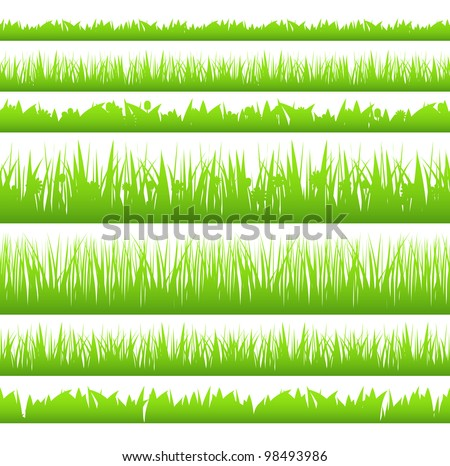 silhouette of seamless grass