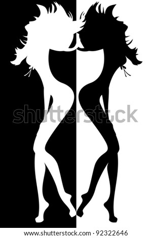 silhouette of sexy women