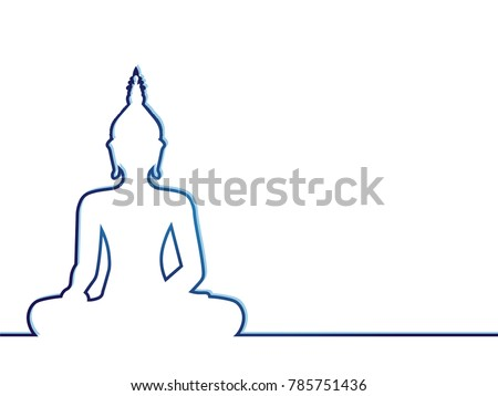 silhouette of sitting buddha on ...