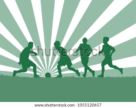 silhouette of soccer player and