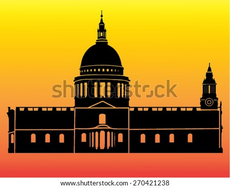 silhouette of st paul's