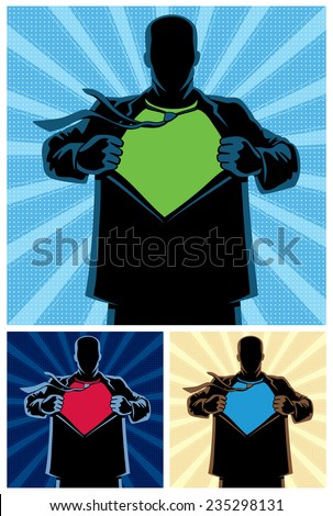 silhouette of superhero under