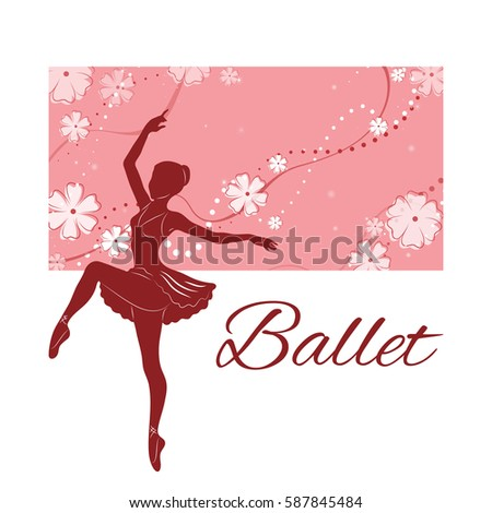 silhouette of the ballerina