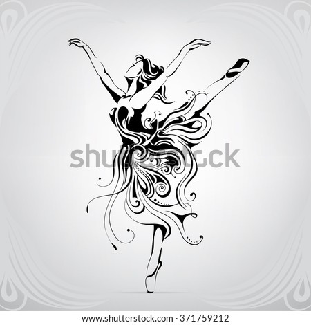 silhouette of the ballerina in