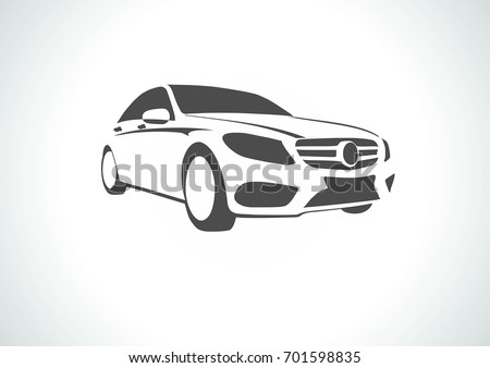 silhouette of the car