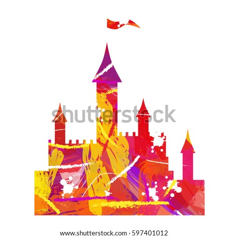 silhouette of the castle on a