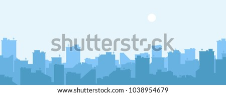 stock-vector-silhouette-of-the-city-cityscape-background-simple-blue-texture-urban-landscape-for-banner-or