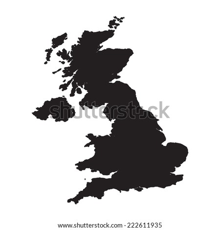 Silhouette of the Country United Kingdom