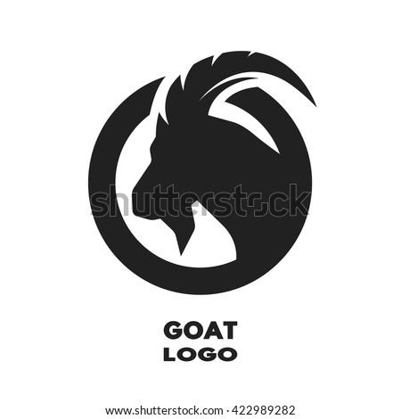 Silhouette of the goat, monochrome logo.