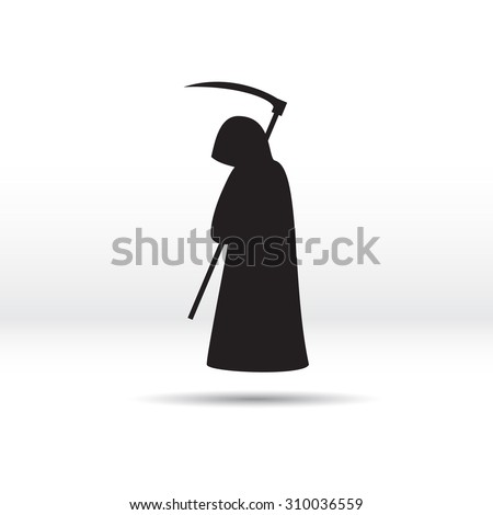 silhouette of the grim reaper