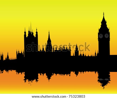 silhouette of the london