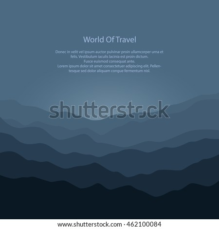silhouette of the mountains