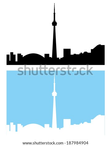 Silhouette of the Toronto Skyline - Vector