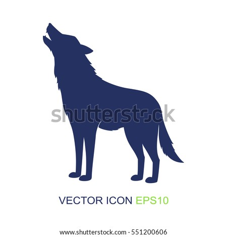 silhouette of the wolf. vector...