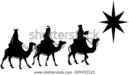 silhouette of three kings