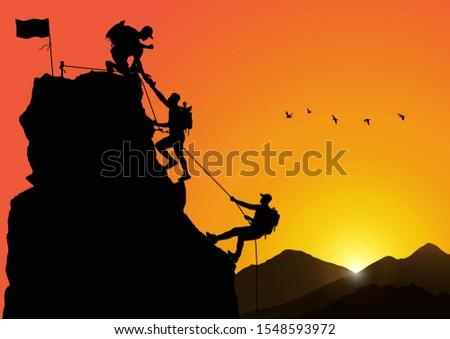 silhouette of three men