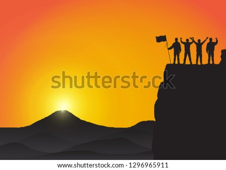 silhouette of three young men