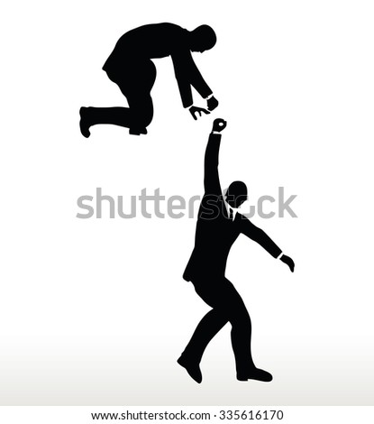 silhouette of two businessmen
