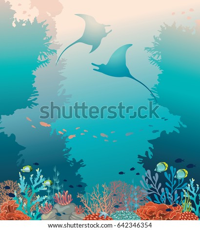 silhouette of two stingrays and