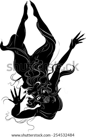 Stock Photo Silhouette of vampire