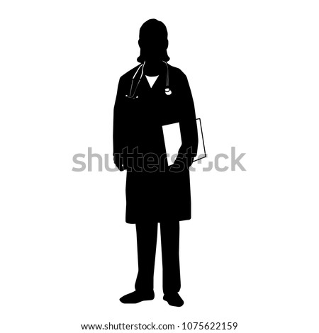 silhouette of woman  doctor
