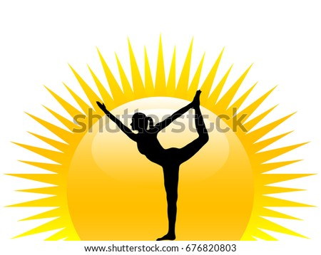 silhouette of woman practicing