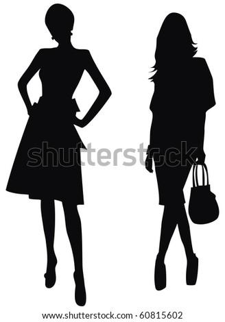 silhouette of women