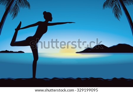 silhouette of women exercise