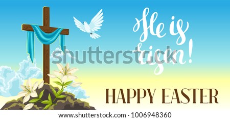silhouette of wooden cross with