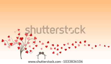 silhouette of young couple in