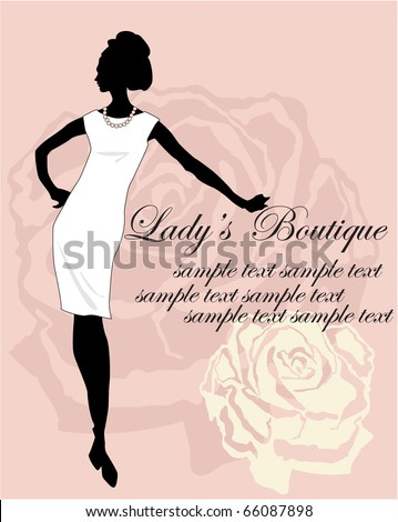 silhouette on a rose background