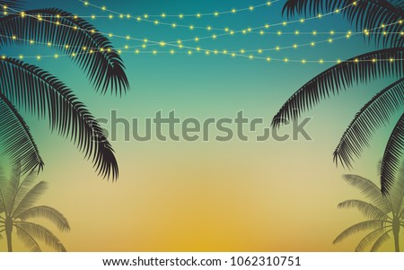 silhouette palm tree and